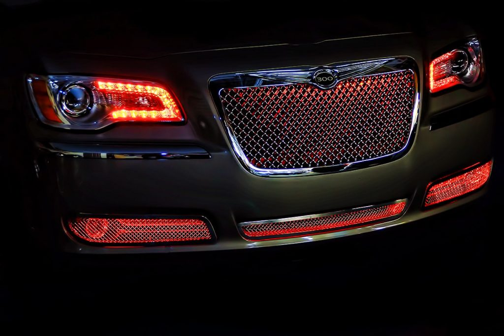 Red Chrysler 300 Oracle Grille Lighting