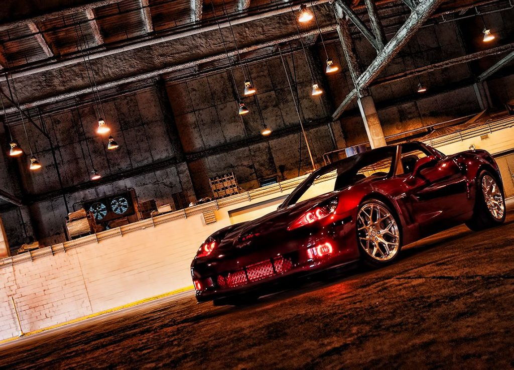Red Halo Lights Corvette Oracle