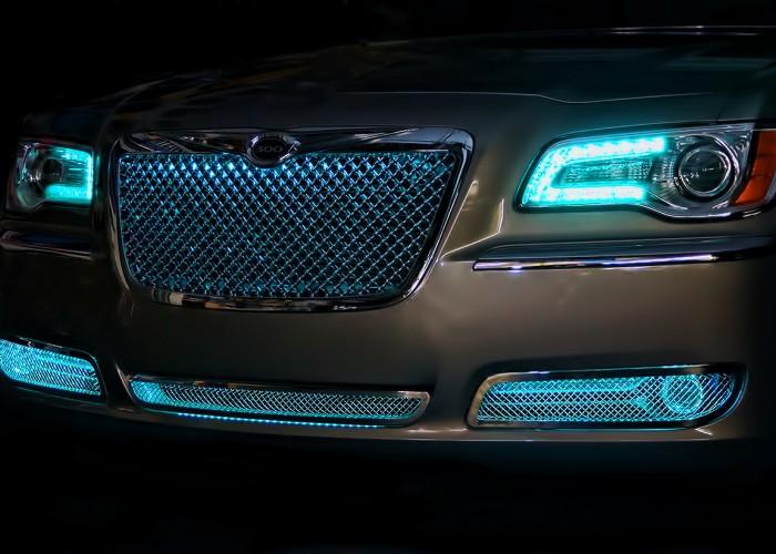 Teal Green Chrysler 300 Oracle Halo Headlights