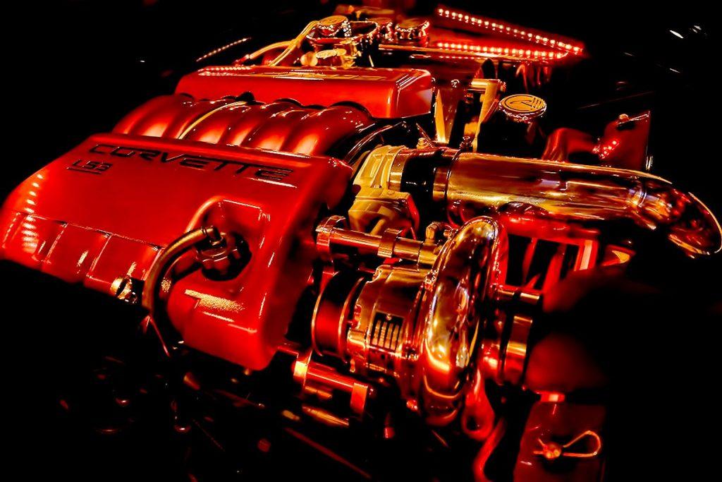 Vortech Corvette Supercharger Painted to Match