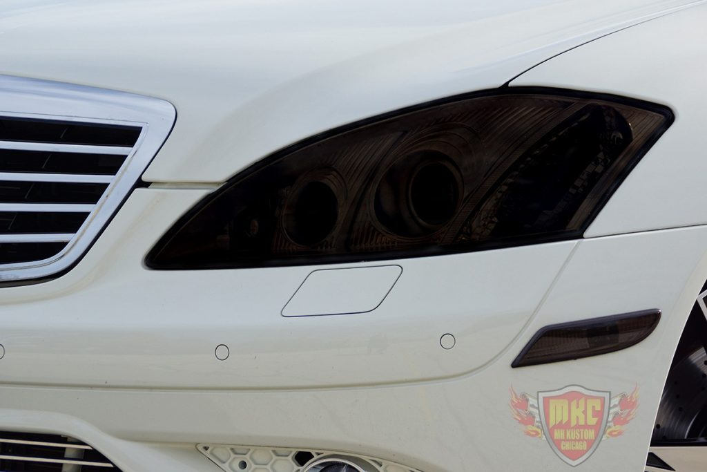 Custom Mercedes Benz S550 Smoked Headlight