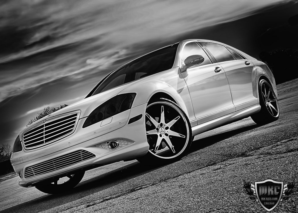 Custom Mercedes Benz S550 Smoked Headlights