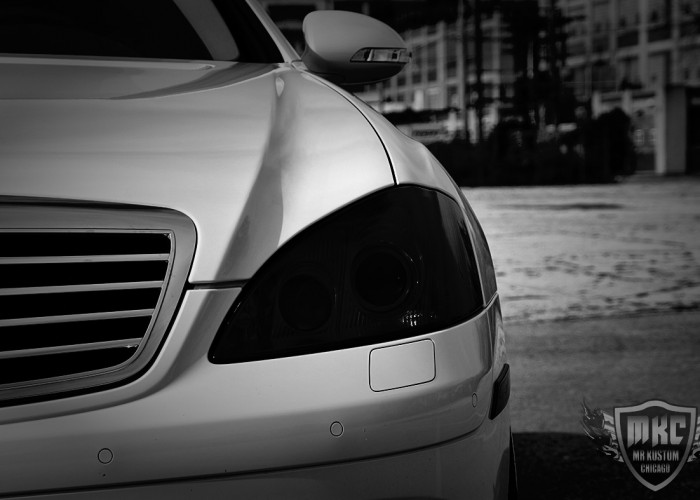 Mercedes Benz S550 Smoked Headlight