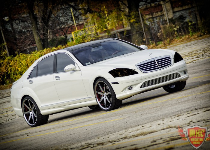 Mercedes Benz S550 Smoked Headlights