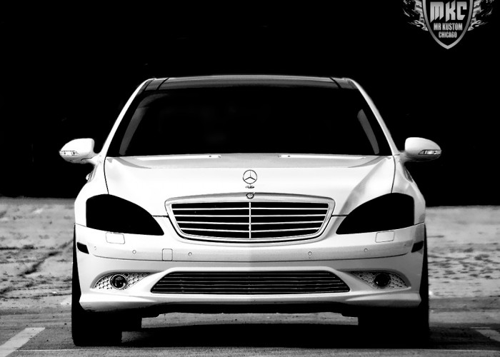 Smoked Headlights Mercedes S550