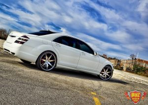 White Custom Mercedes Benz S550