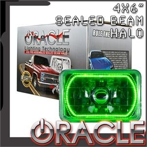 Pre-Installed Green Halo Lights Sealed Beam 4×6
