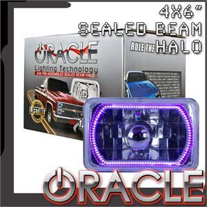 Pre-Installed Purple Halo Lights Sealed Beam 4x6