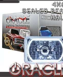 Pre-Installed White Halo Lights Sealed Beam 4x6
