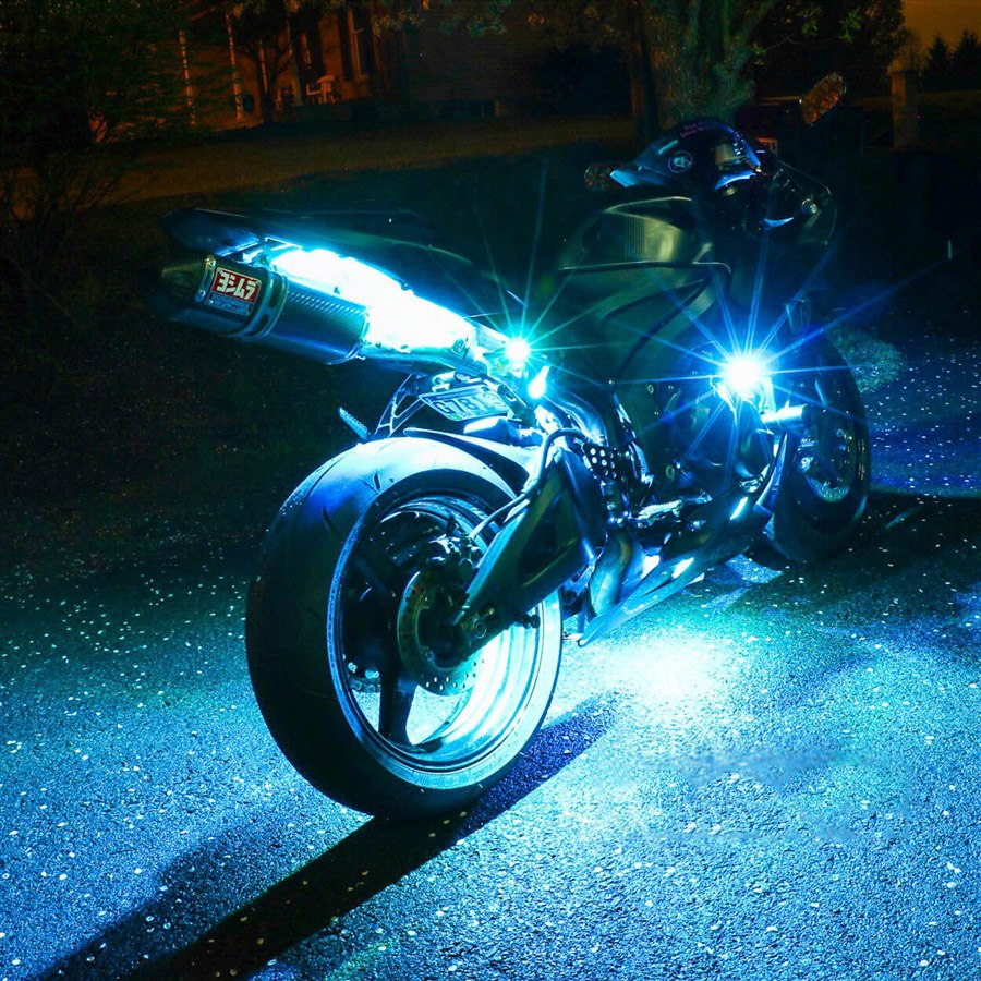 12 strip ios android app wifi control led motorcycle led neon underglow accent light kit xk - Underglow neon ...