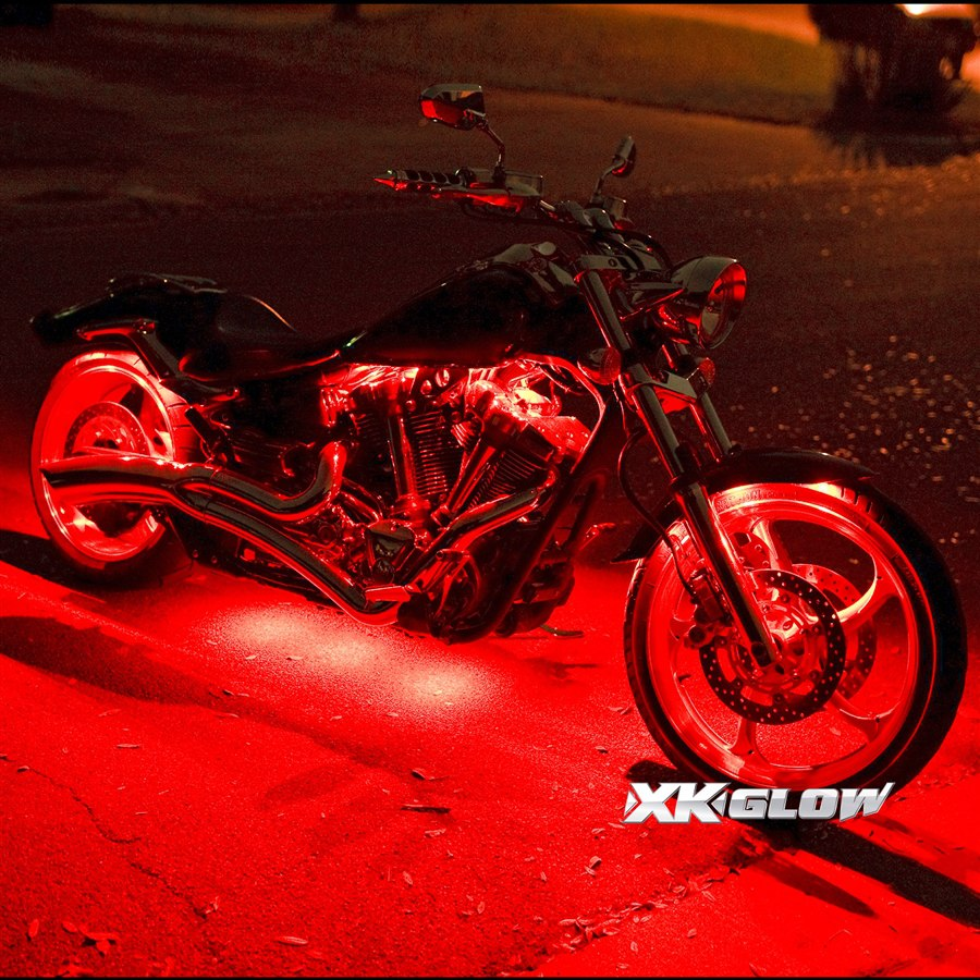 12 Pod Ios Android App Wifi Control Led Motorcycle Led Neon Underglow Accent Light Kit Xk
