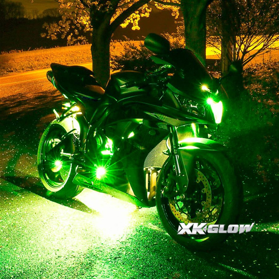 Premium 10 strip 10 pod ios android app wifi control led motorcycle led neon underglow accent - Underglow neon ...