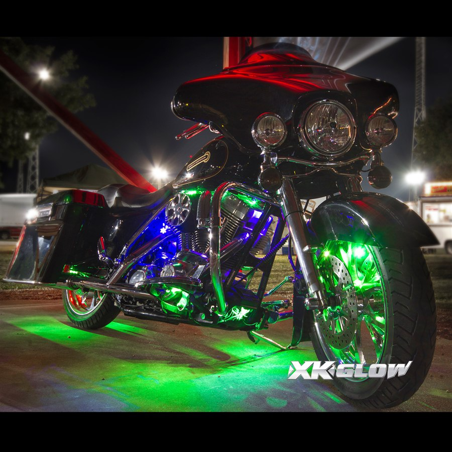 app wifi control led motorcycle led neon underglow accent light kit. Black Bedroom Furniture Sets. Home Design Ideas
