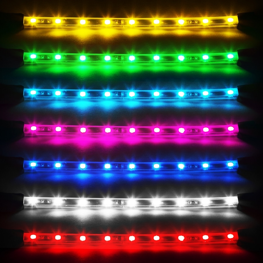 4pcs 8 flex strips neon accent light kit for car interior trunk truck bed mr kustom auto for Interior neon lights for trucks