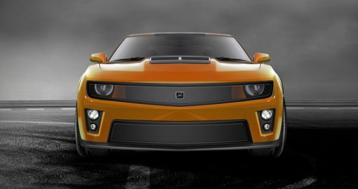 Phantom mesh grille Lower bumper grille for 2010-2013 Chevrolet Camaro fits V6 models (Matte black finish)