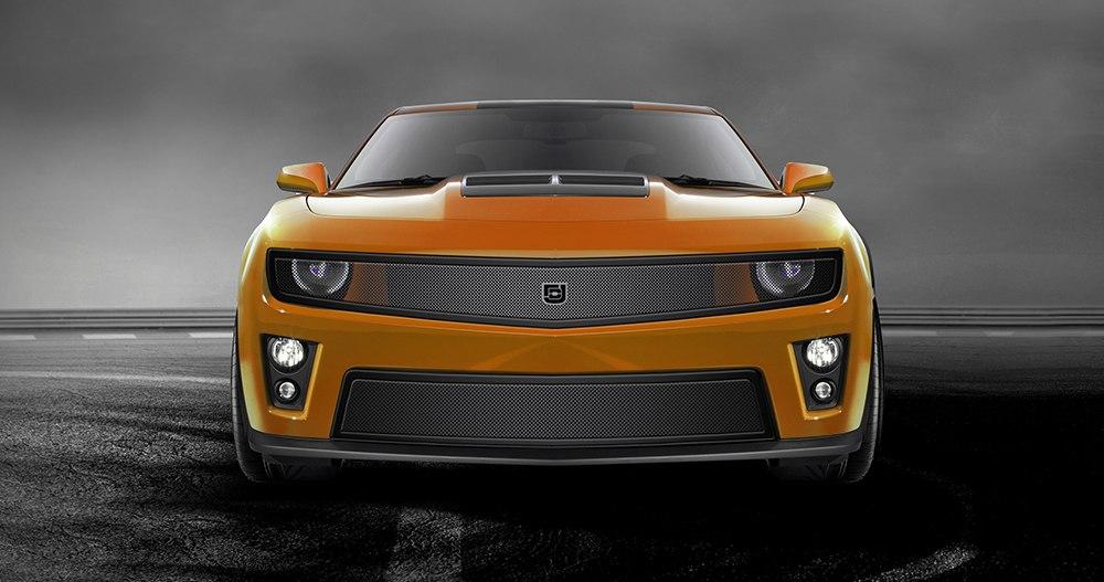 Phantom mesh grille Lower bumper grille for 2010-2013 Chevrolet Camaro fits V6 models (Matte black finish)