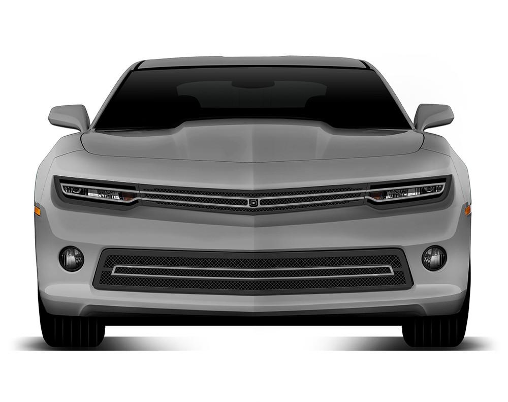 Phantom hidden headlight grille Primary Grille for 2014-2015 Chevrolet Camaro fits All models (Matte black finish)