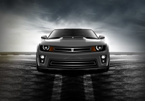 Phantom urban edition grille Lower bumper grille for 2012-2015 Chevrolet Camaro fits Zl1 models (Matte black finish) 1