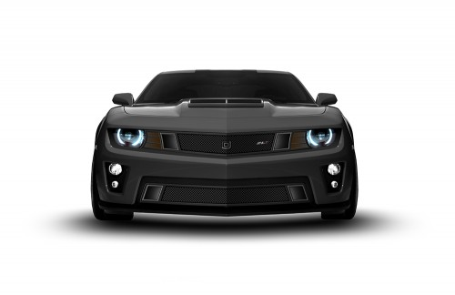 GT Strada Lower bumper grille for 2012-2015 Chevrolet Camaro fits Zl1 models (Matte black finish)
