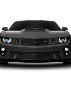 GT Strada Lower bumper grille for 2010-2013 Chevrolet Camaro fits V6 models (Matte black finish)