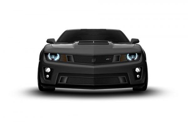 GT Strada Lower bumper grille for 2010-2013 Chevrolet Camaro fits V8 models (Matte black finish) 1