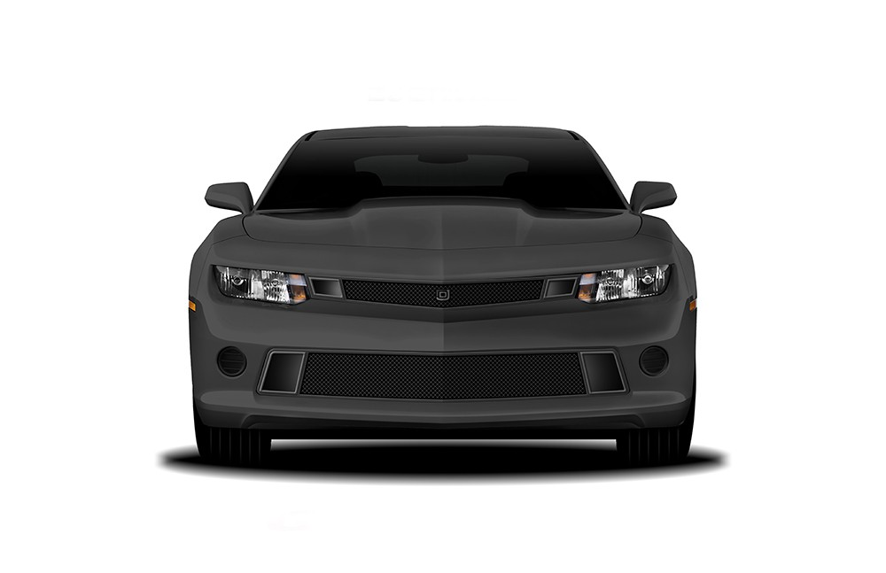 GT Strada Lower bumper grille for 2014-2015 Chevrolet Camaro fits V8 models (Matte black finish)