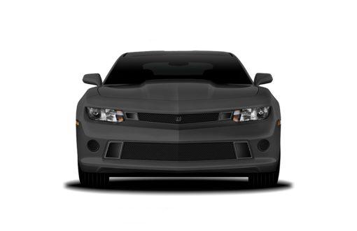 GT Corsa Lower bumper grille for 2014-2015 Chevrolet Camaro fits V6 models (Matte black finish)