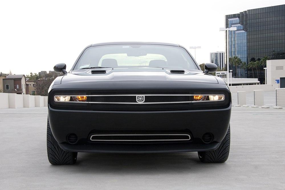 Phantom hidden headlight grille Primary Grille for 2008-2014 Dodge Challenger fits All models (Matte black finish)