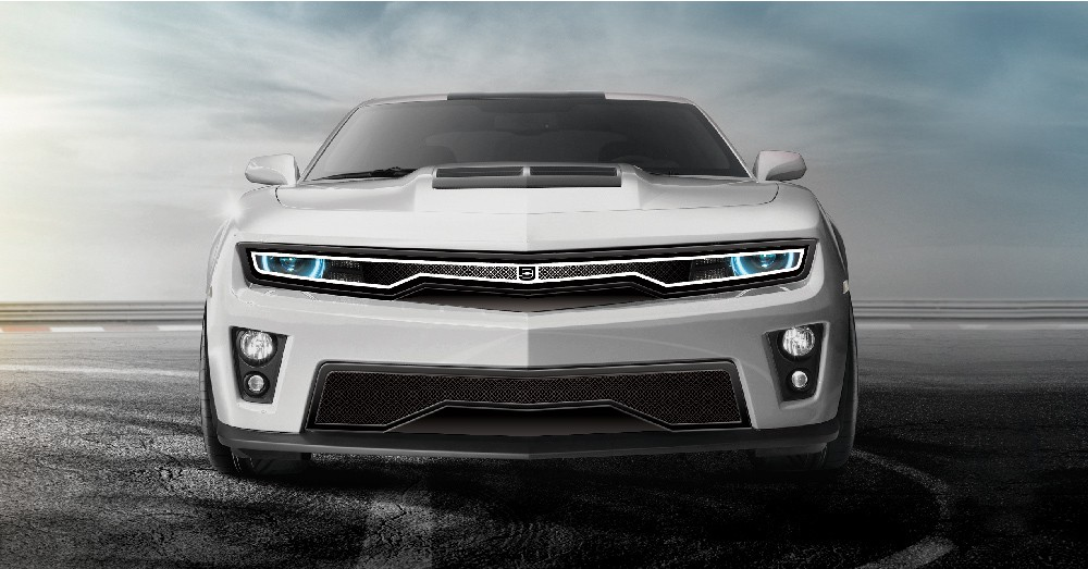 Predator Hidden Headlight Grille Lower bumper grille for 2012-2015 Chevrolet Camaro fits Zl1 models (Matte black finish)