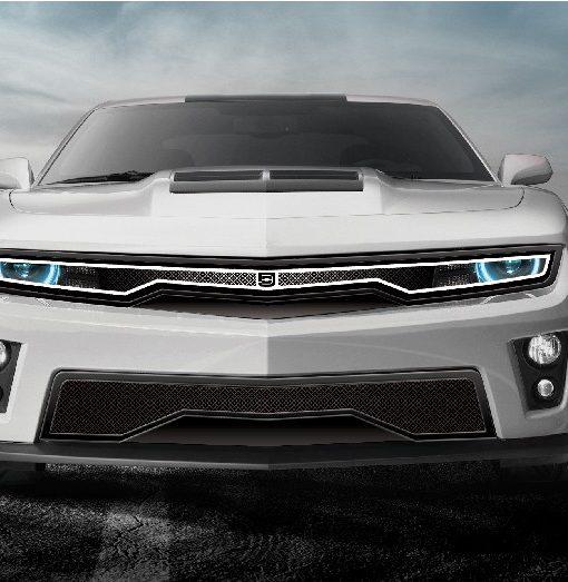 Predator Hidden Headlight Grille Lower bumper grille for 2010-2013 Chevrolet Camaro fits V8 models (Matte black finish)