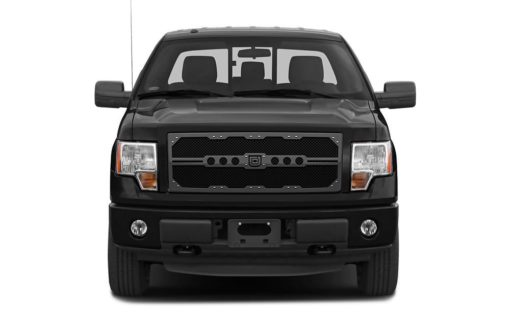 Sniper Truck Grille Primary Grille for 2009-2014 Ford F150 fits All Except For Custom Chrome Package/Harley Davidson Style Grilles models (Matte Black finish)