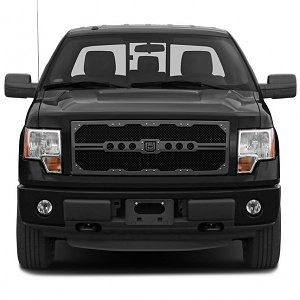 Sniper Truck Grille Primary Grille for 2008-2010 Ford SuperDuty F250/350 fits All Except Base Model Xl Work Trucks With Utility Grille And Custom Chrome Package/Harley Davidson Style Grilles models (Polished finish) 1