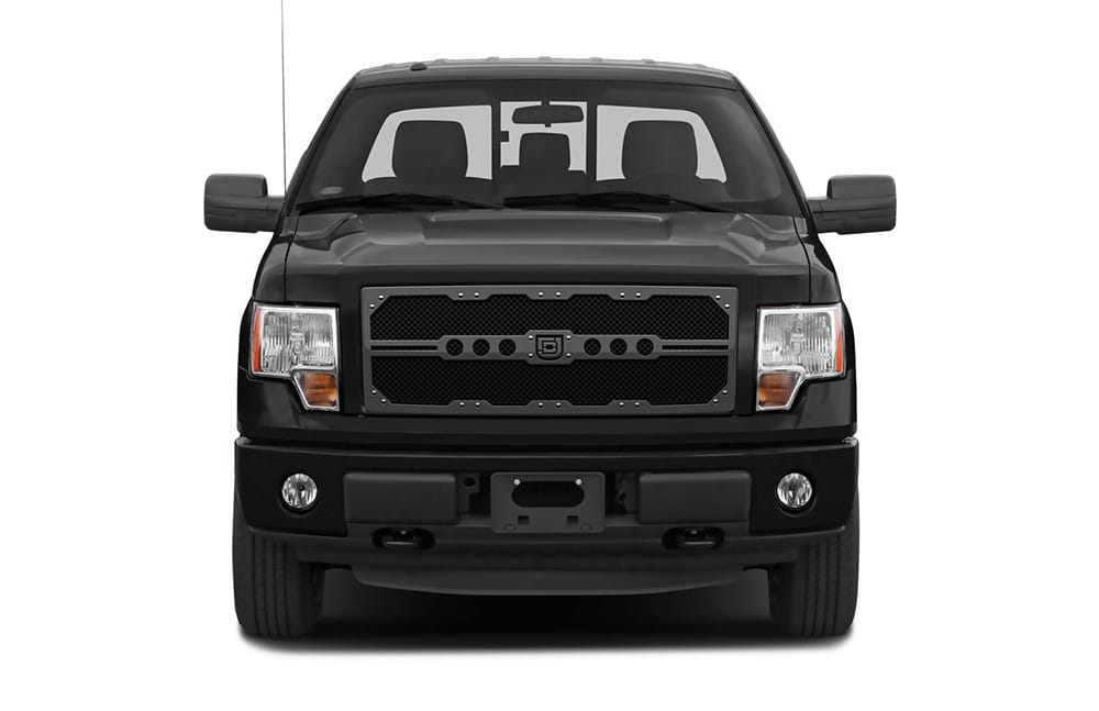 Sniper Truck Grille Primary Grille for 2008-2010 Ford SuperDuty F250/350 fits All Except Base Model Xl Work Trucks With Utility Grille And Custom Chrome Package/Harley Davidson Style Grilles models (Polished finish)