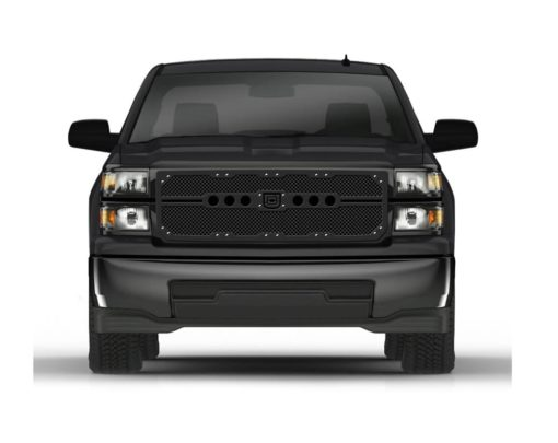 Sniper Truck Grille Primary Grille for 2014-2015 Chevrolet Silverado fits All Except Z71 Models models (Matte Black finish)