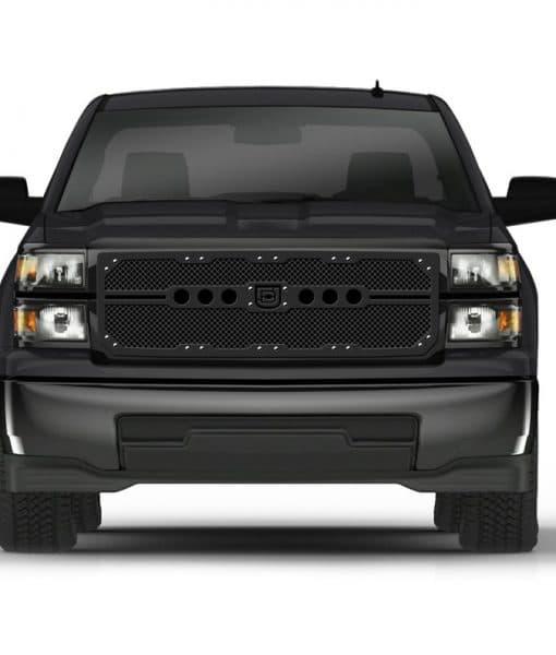 Sniper Truck Grille Primary Grille for 2014-2015 Chevrolet Silverado fits All Except Z71 Models models (Matte Black finish)