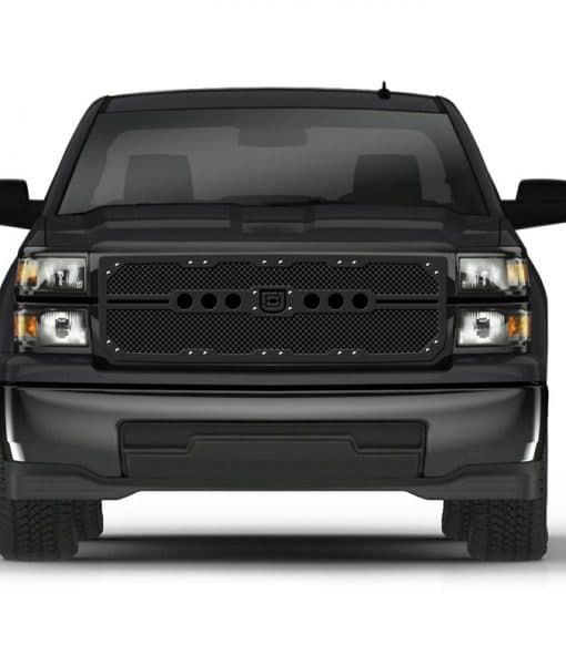 Sniper Truck Grille Primary Grille for 2014-2015 Chevrolet Silverado fits All Except Z71 Models models (Polished finish)