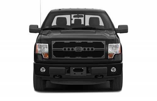Sniper Truck Grille Primary Grille for 2011-2014 Ford SuperDuty F250/350 fits All Except Base Model Xl Work Trucks With Utility Grille models (Polished finish)