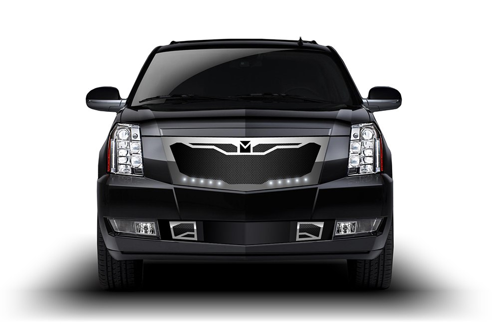 Macaro Primary Grille for 2007-2014 Cadillac Escalade fits Will Not Fit Premium And Platinum Edition models (Matte black finish)