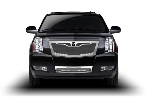 Macaro Primary Grille for 2008-2014 Cadillac Escalade fits Premium And Platinum Edition Only models (Triple Chrome finish)