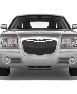 Macaro Primary Grille for 2004-2010 Chrysler 300 fits All models (Triple Chrome finish)