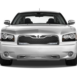 Macaro Primary Grille for 2005-2010 Dodge Charger fits All models (Triple Chrome finish) 1