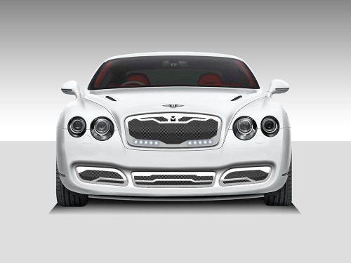 Macaro Lower bumper grille for 2004-2009 Bentley GT/GTC fits All models (Triple Chrome finish)
