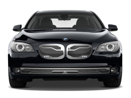 Macaro Lower bumper grille for 2006-2009 Bmw 750/760 fits 750/760 models (Matte black finish)