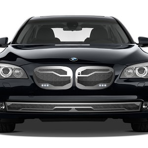 Macaro Lower bumper grille for 2006-2009 Bmw 750/760 fits 750/760 models (Triple Chrome finish) 1