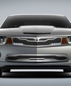 Macaro Lower bumper grille for 2010-2013 Chevrolet Camaro fits V6 models (Matte black finish)
