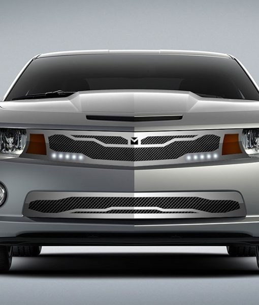 Macaro Lower bumper grille for 2010-2013 Chevrolet Camaro fits V6 models (Matte black finish)