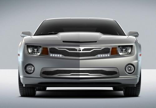 Macaro Lower bumper grille for 2010-2013 Chevrolet Camaro fits V6 models (Triple Chrome finish)