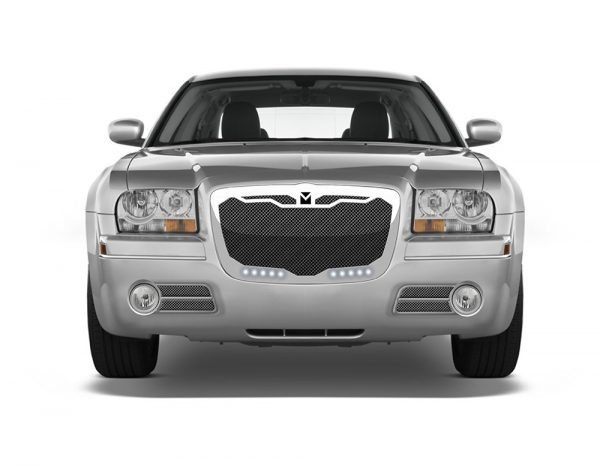 Macaro Lower bumper grille for 2004-2010 Chrysler 300 fits 300C models (Matte black finish)