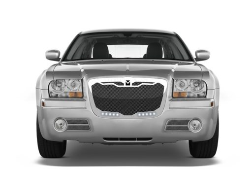 Macaro Lower bumper grille for 2004-2010 Chrysler 300 fits 300C models (Triple Chrome finish)