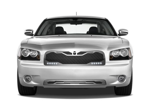 Macaro Lower bumper grille for 2005-2010 Dodge Charger fits Srt-8 Only models (Matte black finish)